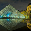 Louvre museum at night, Paris, France — Stock Photo #17420225
