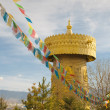 The biggest tibetan prayer wheel in the world, shangri-la, china - Stock Photo