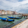 Gondolas at Grand Canal, Venice, Italy — Stock Photo #17420477