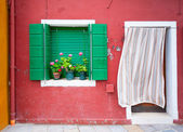 Colorful houses of Burano, Venice, Italy — Stock Photo