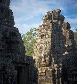 Faces of Bayon temple, Angkor, Cambodia — Stock Photo