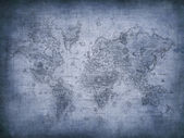 Grunge map of the world — Stockfoto