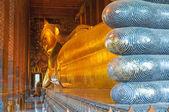 Reclining buddha, wat pho, bangkok, thailand — Stock Photo