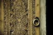 Close-up image of ancient doors — 图库照片