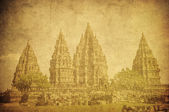 Vintage image of Prambanan temple, Java, Indonesia — Stock Photo