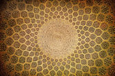 Dome of the mosque, oriental ornaments from Isfahan, Iran — Stockfoto