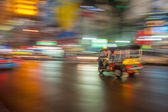 Tuk-tuk in motion blur, Bangkok, Thailand — Photo
