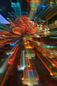 Traffic lights in motion blur — Стоковое фото