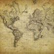 Vintage map of the world 1814 — Stock Photo