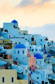 Oia village at Santorini island, Greece — Stock Photo