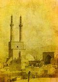 Vintage image of Yazd, Iran — Stock Photo