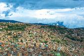 Panoramisch uitzicht van la paz, bolivia — Stockfoto