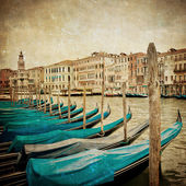 Vintage image of Grand Canal, Venice — Stock Photo