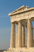 Columnas griegas, acrópolis, atenas — Foto de Stock