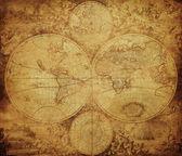 Vintage-karte der welt, circa 1675-1710 — Stockfoto