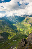Geiranger fjord, view from Dalsnibba mountain, Norway — Stock Photo