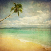 Grunge image of tropical beach — Stockfoto