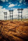 High voltage line — Stock Photo