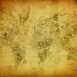 Stock Photo: Ancient map of the world