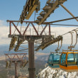 Cable car in the mountains — Stock Photo