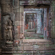 Apsara dancers, bas-relief of Angkor, Cambodia - Stock Photo