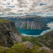 View of lake Ringedalsvatnet, Norway — Stock Photo #21109673