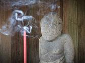 Estatua en el templo de cetho, java, indonesia — Foto de Stock