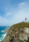 Farol no cabo de roca, o ponto mais ocidental do continente da ue — Foto Stock