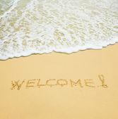 Vítejte v tropické pláže — Stock fotografie