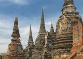 Stup wat si sanphet, ayutthaya, tajlandia — Zdjęcie stockowe