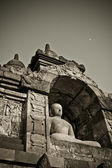 Buddha statue at Borobudur temple, Java, Indonesia — Stock Photo