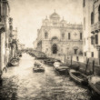 Stock Photo: Vintage image of Venice canals