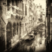 Vintage image of Venetian canals — Stock Photo