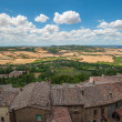 Panoramic view from Montepulciano, Tuscany, Italy — Stock Photo