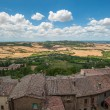 Panoramic view from Montepulciano, Tuscany, Italy - Stock Photo