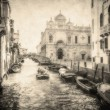 Vintage image of Venice canals — Stock Photo #24032095