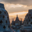 Borobudur temple at sunrise, Java, Indonesia — Stockfoto #24032423