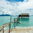 Stock Photo: Stilt house in tropical waters