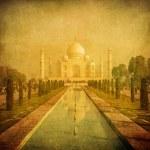 Vintage image of Taj Mahal, Agra, India — Stock Photo #24032841