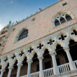 Architectural details of Doge's Palace, Venice, Italy — Stock Photo