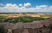 Panoramic view from Montepulciano, Tuscany, Italy — Stock Photo