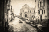 Vintage image of Venice canals — Stock Photo