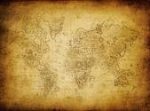 Gammal karta över worl — Stockfoto