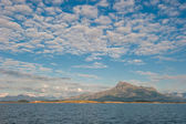 Sandhornoya island and mountain, Bodo, Norway — Stock Photo