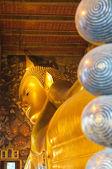 卧佛,佛寺,曼谷,泰国 — 图库照片