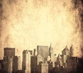 Image grunge de new york skyline — Photo