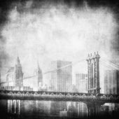 Grunge bild new york skyline — Stockfoto