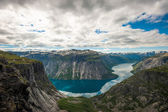 View of lake Ringedalsvatnet, Norway — Stock Photo