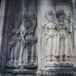 Apsara dancers, bas-relief of Angkor, Cambodia — Stock Photo #24782991