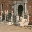 The Porta Magna at the Venetian Arsenal, Venice, Italy - Stok fotoğraf